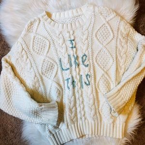 2/35 🍂 Vintage handmade cable knit sweater